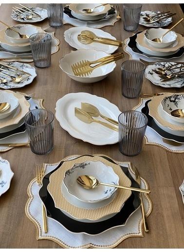 ROSSEV Yemek Takımı Mariposa 84 Parça 6 Kişilik Renkli